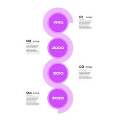 Vertical timeline steps infographics - can vector