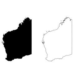 Western australia map vector