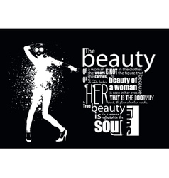 Woman with quote vector image