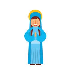 Blessed holy virgin mary christmas celebration vector