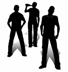 boys group vector image vector image