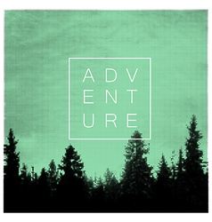 Forest Adventures Outdoor Background Concept vector image vector image