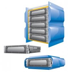hosting server vector image