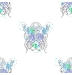 Tattoo Octopus Zentangle stylized Hand drawn vector image vector image