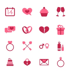 Trendy flat icons for Valentines Day design vector image vector image