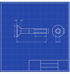blueprints mechanical engineering drawings of vector image