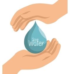 hand prtotected save water symbol vector image