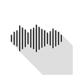 sound waves icon black icon with flat style vector image vector image