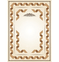 vintage frame at grunge background with retro vector image vector image