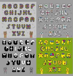 artistic vintage alphabets vector image vector image
