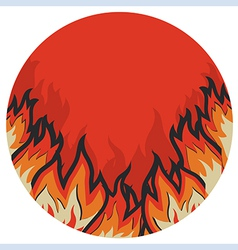 Grunge fire label vector image vector image