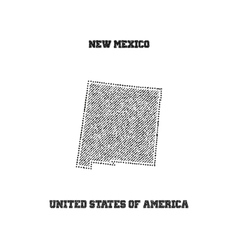 Label with map of new mexico vector image