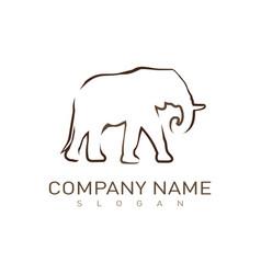 logo elephant vector image vector image
