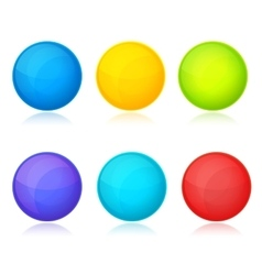 Set of colorful balls on white background vector image vector image