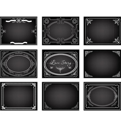 Set old movie frames vector image vector image