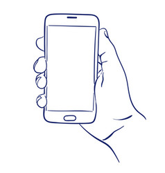smartphone in hand use vector image