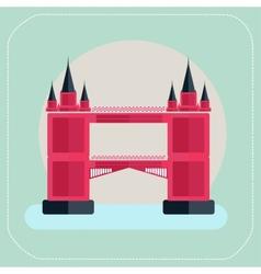 Tower Bridge London icon flat vector image
