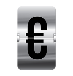 Alphabet silver flipboard letters euro vector image vector image