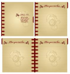 classic notebook vector image vector image