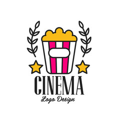 colorful abstract cinema or movie logo template vector image
