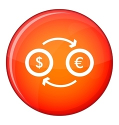 Euro dollar euro exchange icon flat style vector image vector image