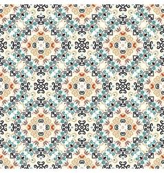 Floral Pattern Blue Brown Flower Weave Curves vector image vector image