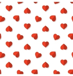 Red hearts pattern vector image vector image