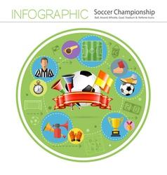 Soccer infographics vector