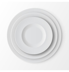Tableware set of plates top view table setting vector