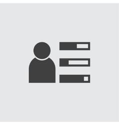 User profile icon vector image
