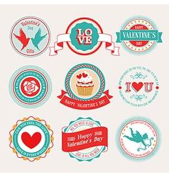 valentine labels 2 vector image