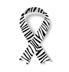 Zebra-print ribbon symbol vector