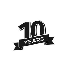 10 years anniversary logotype isolated vector