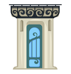 1900s style entrance door vintage construction vector