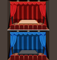 a set of empty stage background vector image