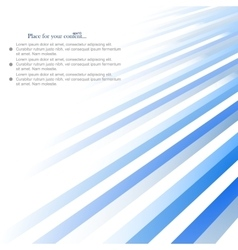 Abstract background blue lines design vector
