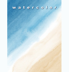 abstract background design sea and beach vector image