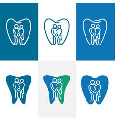abstract denta familyl logo vector image