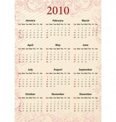 American pink calendar vector image