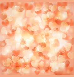 Background with hearts color of a peach vector