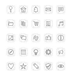 basic ui icon set vector image