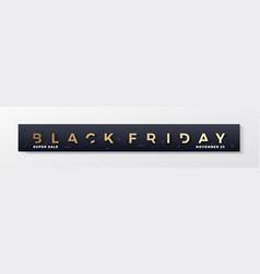 black friday stylish premium banner or header vector image