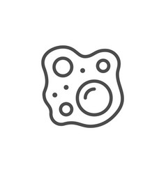 bubbles and foam line outline icon vector image