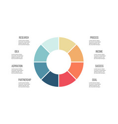Business infographics circle with 8 parts vector