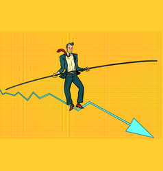 businessman tightrope walker vector image