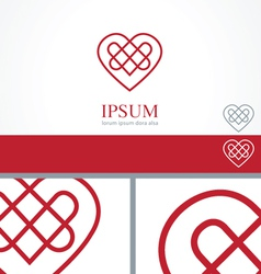 Celtic heart element concept design template vector