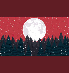 christmas background falling snow vector image