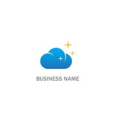 cloud star logo vector image