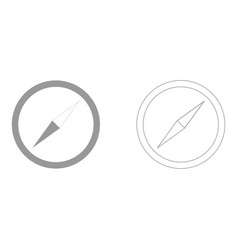 Compass set icon vector