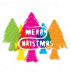 Creative merry christmas greeting design vector